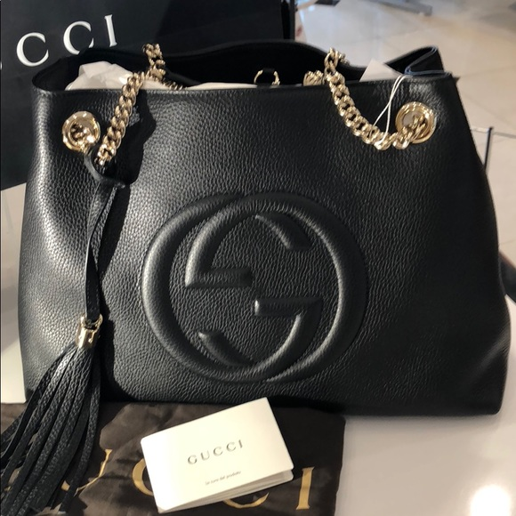 Gucci Soho Disco Chain Bag Black Boutique